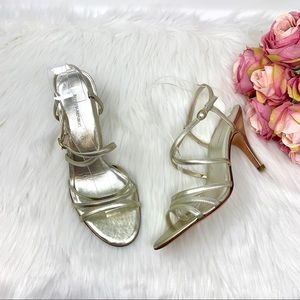 Banana Republic Light Gold Metallic Heels Size 8.5